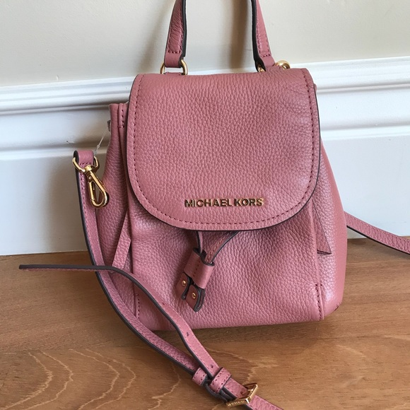Michael Kors Riley SM Flap Pack Crossbody in Rose 2a9b5b359f6f3